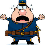 Scared Cartoon Union Soldier Stock Images