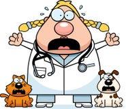 Scared Cartoon Veterinarian Stock Photos