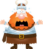 Scared Cartoon Viking Royalty Free Stock Photos