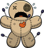 Scared Cartoon Voodoo Doll Stock Images