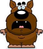 Scared Cartoon Werewolf Stock Images