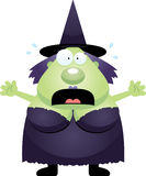 Scared Cartoon Witch Stock Photos