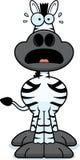 Scared Cartoon Zebra Stock Photos