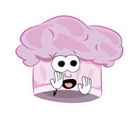 Scared chef hat cartoon Stock Images