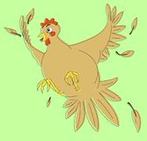 Scared chicken royalty free stock photo