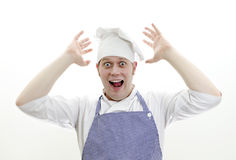 Scared chief cook Royalty Free Stock Image