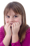 Scared child girl Stock Photo
