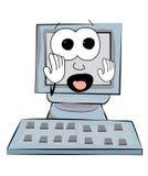 Scared Computer cartoon Royalty Free Stock Photos