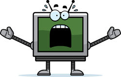 Scared Computer Monitor Royalty Free Stock Images