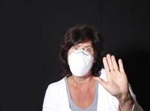 Scared da gripe dos suínos foto de stock royalty free