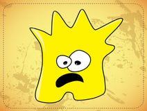 Scared desarregló al monstruo amarillo ilustración del vector