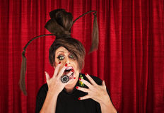 Scared Drag Queen Stock Photo