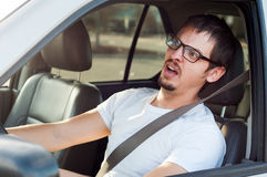 Scared driver Royalty Free Stock Images
