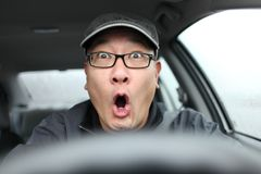 Scared driving Royalty Free Stock Photo
