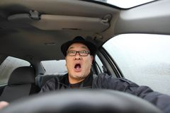 Scared driving Stock Photography
