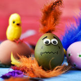 Scared easter egg royalty free stock photos