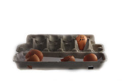 Scared egg Stock Photography