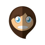 Scared emoticon cartoon design Stock Image