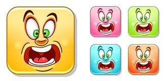 Scared Emoticons Collection Stock Photo