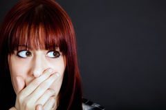 Scared girl Royalty Free Stock Photos
