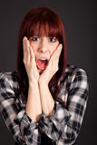 Scared girl Stock Photo