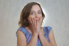 Scared girl Royalty Free Stock Image