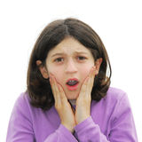 Scared girl Stock Images