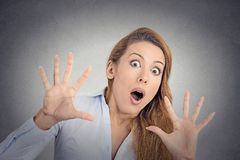 Scared girl, woman Stock Photography