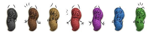 Scared GM peanuts stock photos