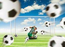 Scared goalkeeper Royalty Free Stock Photo
