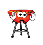 Scared Grill cartoon Royalty Free Stock Photography