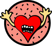 scared heart vector illustration Royalty Free Stock Image