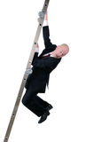 Scared ladder of business Royalty Free Stock Photo
