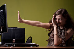 Scared lady Royalty Free Stock Photography