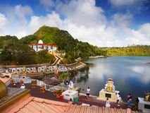 Hindu Temple Ganga Talao, Mauritius Island stock images