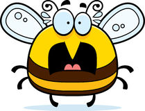 Scared Little Bee. A cartoon illustration of a bee looking scared vector illustration