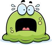 Scared Little Booger. A cartoon illustration of a booger looking scared stock illustration