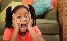 Scared Little Girl Stock Image