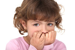Scared little girl Stock Images