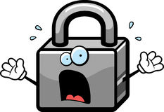 Scared Lock Royalty Free Stock Photography
