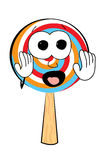 Scared Lollipop cartoon Stock Photography