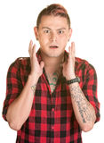 Scared Man Stock Images