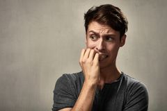 Free Scared Man Face. Royalty Free Stock Photos - 87465228