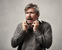 Scared man face. Stock Photography