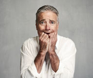 Scared man face. Royalty Free Stock Photography