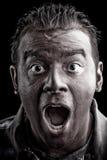 Scared Man Screaming Stock Image
