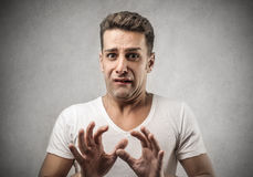 Scared man Royalty Free Stock Images