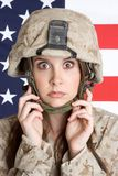 Scared Marines Woman Stock Images