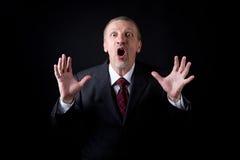Scared mature man Royalty Free Stock Image