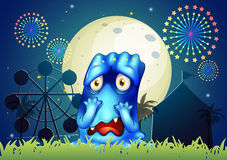 A scared monster at the carnival Stock Photos